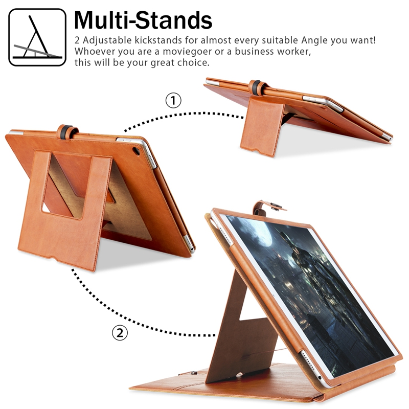 Benuo For iPad Pro 9.7 Case Cover Genuine Leather [Card Slots ...