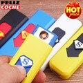 Многоцветный USB Легче Ветрозащитный Аккумуляторная Непламено Зажигалка Супермен Электронная Зажигалка Удивительный Никогда Не сбрасывать со счетов