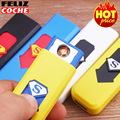 Multicolor USB Lighter Windproof Rechargeable Flameless Lighter Superman Electronic Cigarette Lighter Awesome Never discount