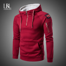2019 Thick Hoodies Men Spring Fashion Casual Solid Fleece Hoody Men/women Polluver Sweatshirt Hooded Sprotswear Zipper Blouse(China)