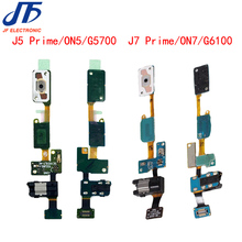 10pcs/lot home button flex cable with headphone jack for Samsung Galaxy ON5 J5 Prime G5700 ON7 J7 Prime G6100