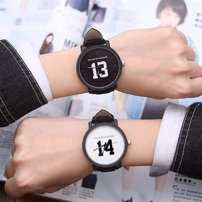 2019 New Lover's Quartz Analog Wrist Delicate Watch Retro Design Leather Clock Woman Mens 1314 Casual Bracelet Couple Watches