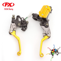 FX 7 8 50 550cc Dirt Pit Bike Motocross Brake Clutch Lever Master Cylinder Reservoir For