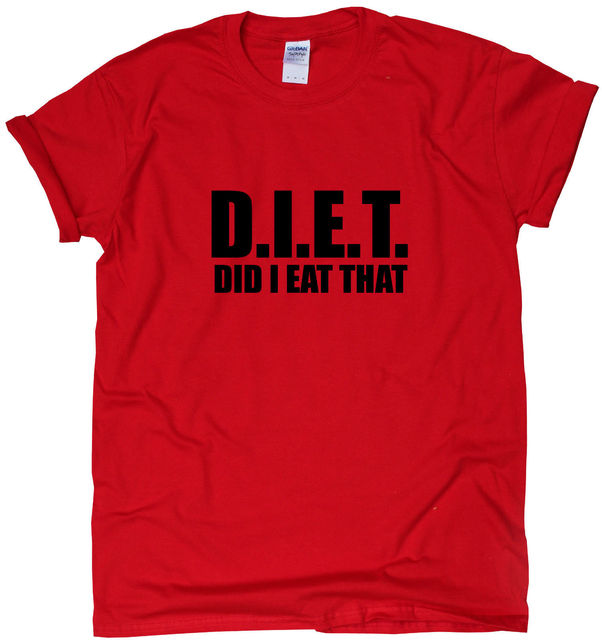1458a790 Diet Funny Gym T Shirt Womens Mens Training Humour Ladies Workout ...