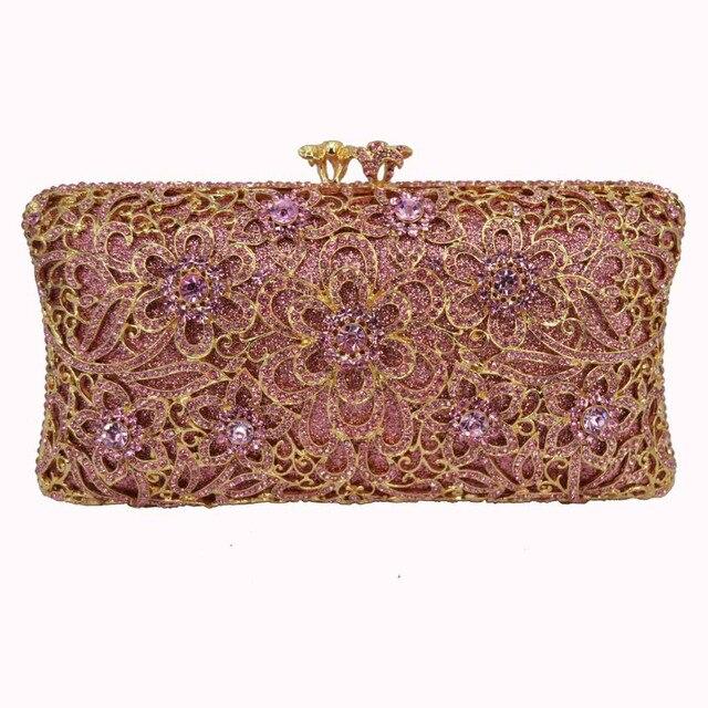 f0ea480855f Designer Gold Diamond purse wallet women Luxury crystal clutch bag party  rhinestone evening bag pochette ladies clutch bag SC180