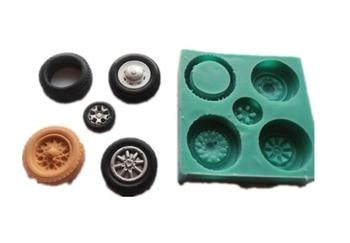 Free shipping 5 wheel  Modeling fondant mold tire silicon mold chocolate cake decoration silicone mold silicone mold