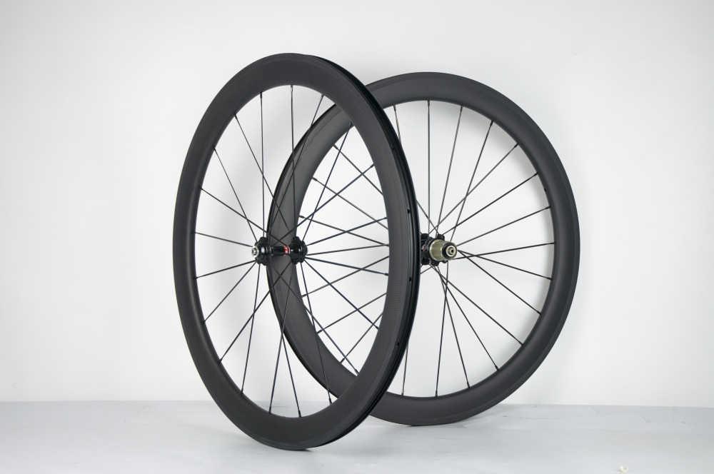 Superteam Carbon rims tubeless 25mm cycle wheels 700C 50mm road bike wheels