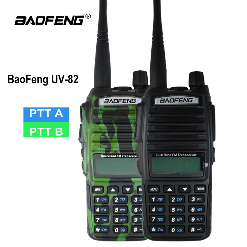 Original Baofeng UV-82 Talkie Walkie UV 82 Portable Two way Radio Double PTT Ham CB Station de Radio VHF UHF UV82 chasse Émetteur-Récepteur