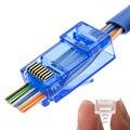 Conector RJ45 conector de red cat5e Cat6 8P8C conectores modulares sin blindaje los terminales utp tienen agujero HY1525