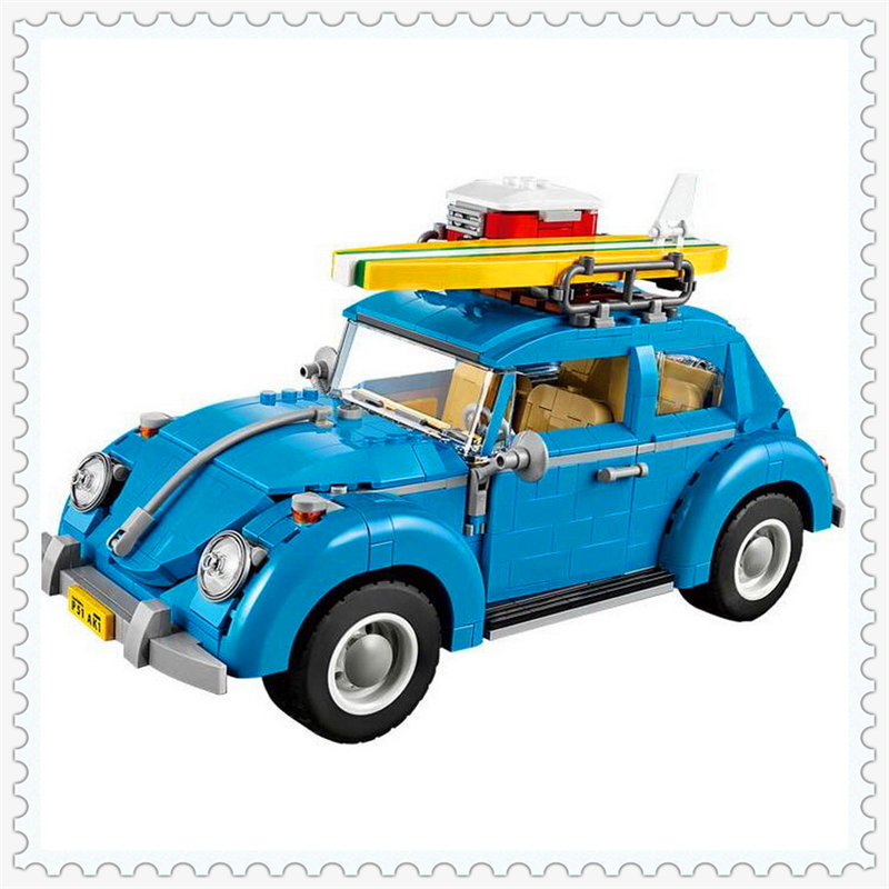 1193Pcs City Street Creators Volkswagen Beetle Building Block Toys LEPIN 21003 Educational Gift For Children Compatible Legoe new lepin 21003 series city car beetle model educational building blocks compatible 10252 blue technic children toy gift