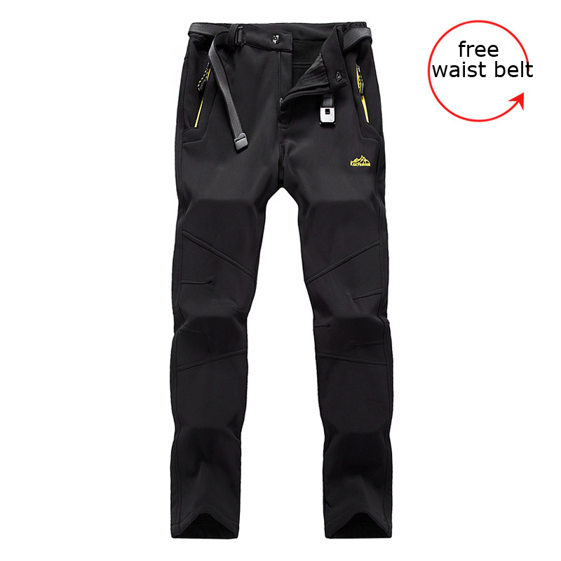 Top Quality 2017 Outdoor Softshell Thelmal Fleece Women Thicken Ski Pants Cargo Waterproof Slim Fit camping Hiking Trousers