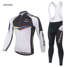 Xintown Men's Long Sleeve Cycling Jersey Sets Breathable Ropa Ciclismo Padded Pants Bicycle Sports Cycling Clothings S-4XL