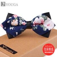 Korean Men S Dress Marriage Tie British Cotton Fabric Pattern Groom Bow Collar Men And Women