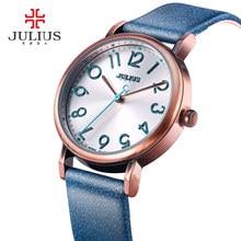 Julius relojes de las mujeres reloj de la manera 2017 grandes easy read number rose oro antiguo reloj orologi donna bayan kol saati ja-911