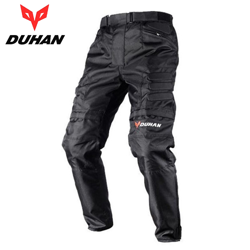 DUHAN Men's Windproof Motorcycle Enduro Riding Trousers Pantaloni Motocross Off-Road Racing Moto Pants with Knee Protective Gear