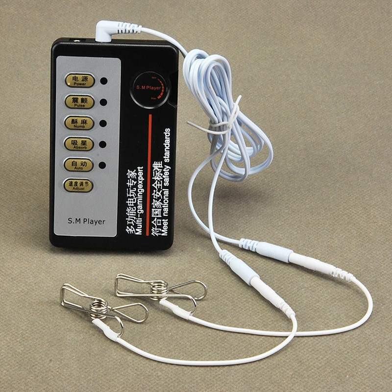 Electric Shock Nipple Clips <font><b>Electro</b></font> <font><b>Sex</b></font> Massager Ring Vibrator Anal Bullet Stimulate Nipple <font><b>Clamps</b></font> Electronic Pulse Massager Toy image