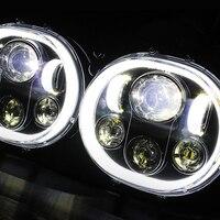 5.75 Projector Dual LED Headlgiht with Angle DOT Apprvoed For Harley Davidson Road Glide 2004 2013 Harley Davidson H4