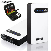 GSPSCN 12V Portable White Mini Jump Starter 20000mAh Car Jumper Booster Power Mobile Phone Laptop Power