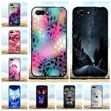 For Huawei Honor 10 Cover Ultra-slim Soft TPU Silicone Case Lion Patterned Coque Shell