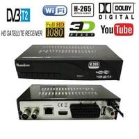 Цифровой DVB T2 dvb t H.265 HEVC HD спутниковый 48 ~ 866 м ТВ ресивер поддерживает DTS YouTube Wi-Fi DVBT2 dvb-t MPEG-2 Комплект Топ ТВ коробка