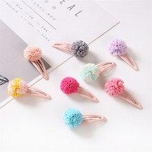 1pcs 5cm Hairpins Snap Hair Clips for Children Girls Hair Accessories Baby Cute Hair Clip Pins Gauze ball Color Metal Barrette