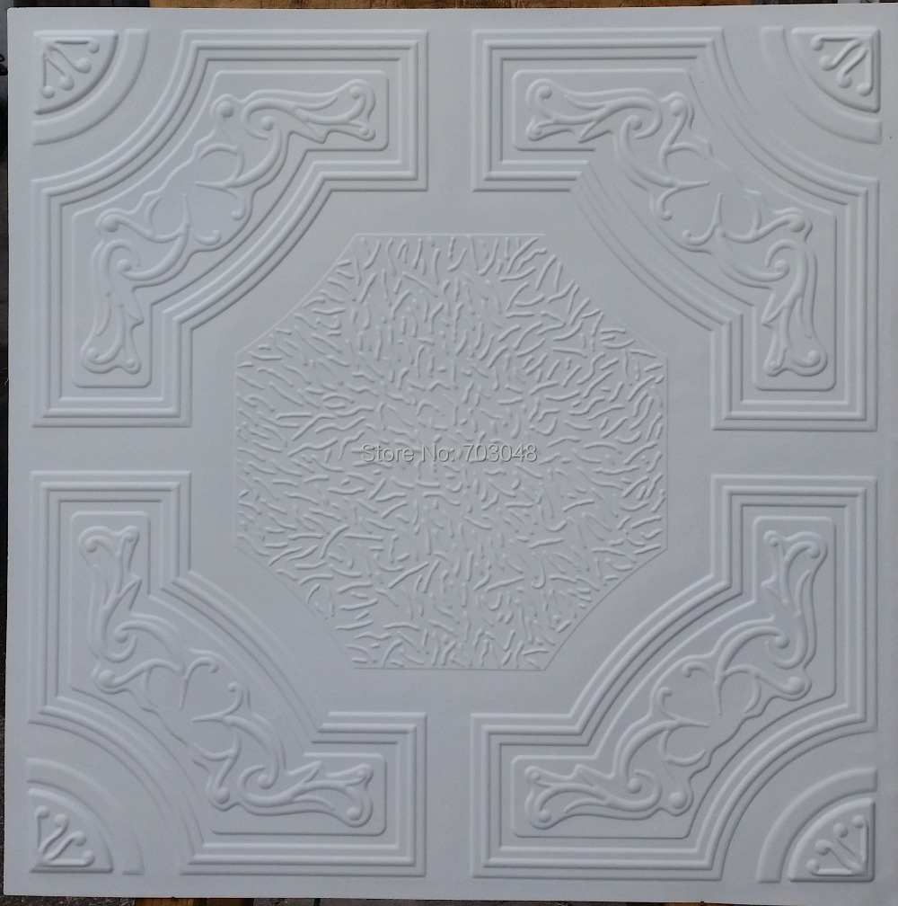 Pl02 Faux Tin Ancient Artistic Ceiling Tiles 3d Embossed Backsplash