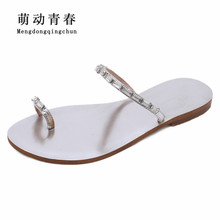 e3574b079a912d Buy crystals rhinestone flat sandals and get free shipping on AliExpress.com