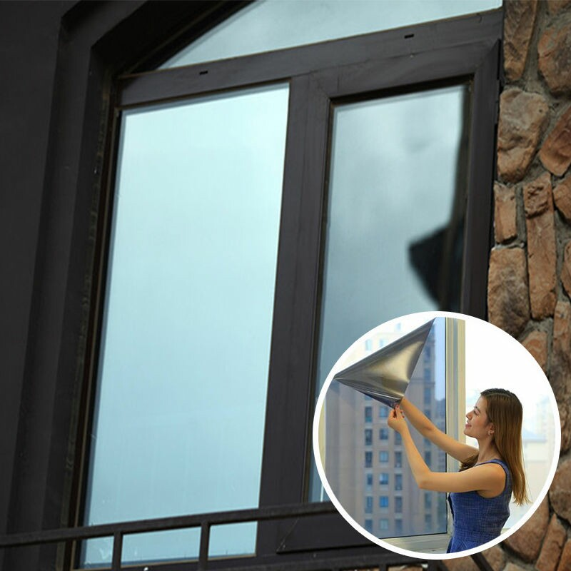 1/2/3Meters One-way Reflective Window Film Self-adhensive Privavy Tinting Glass Stickers for Home Office film pour vitrage