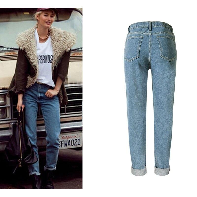SUNSPA 2017 Mode Vintage Dames Rétro Taille Haute Jeans Femme Mince Crayon  Casual Denim Pantalon Boyfriend Jeans Pour Femmes dans Jeans de Mode Femme  et ... 9550f0bd977