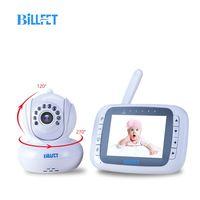 Remote Rotate 3.5LCD Digital Wireless Baby Camera with Monitor IR night vision babyfoon camera Baby Camera electronic baba