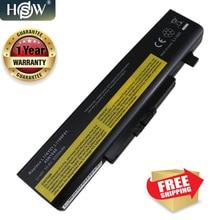 HSW แบตเตอรี่แล็ปท็อปสำหรับ Lenovo G480 G485 G585 G580 Y480 Y580 Z380 Z480 Z580 Z585 Z485 L11L6F01 L11L6R01 L11L6Y01 L11M6Y01 6 เซลล์