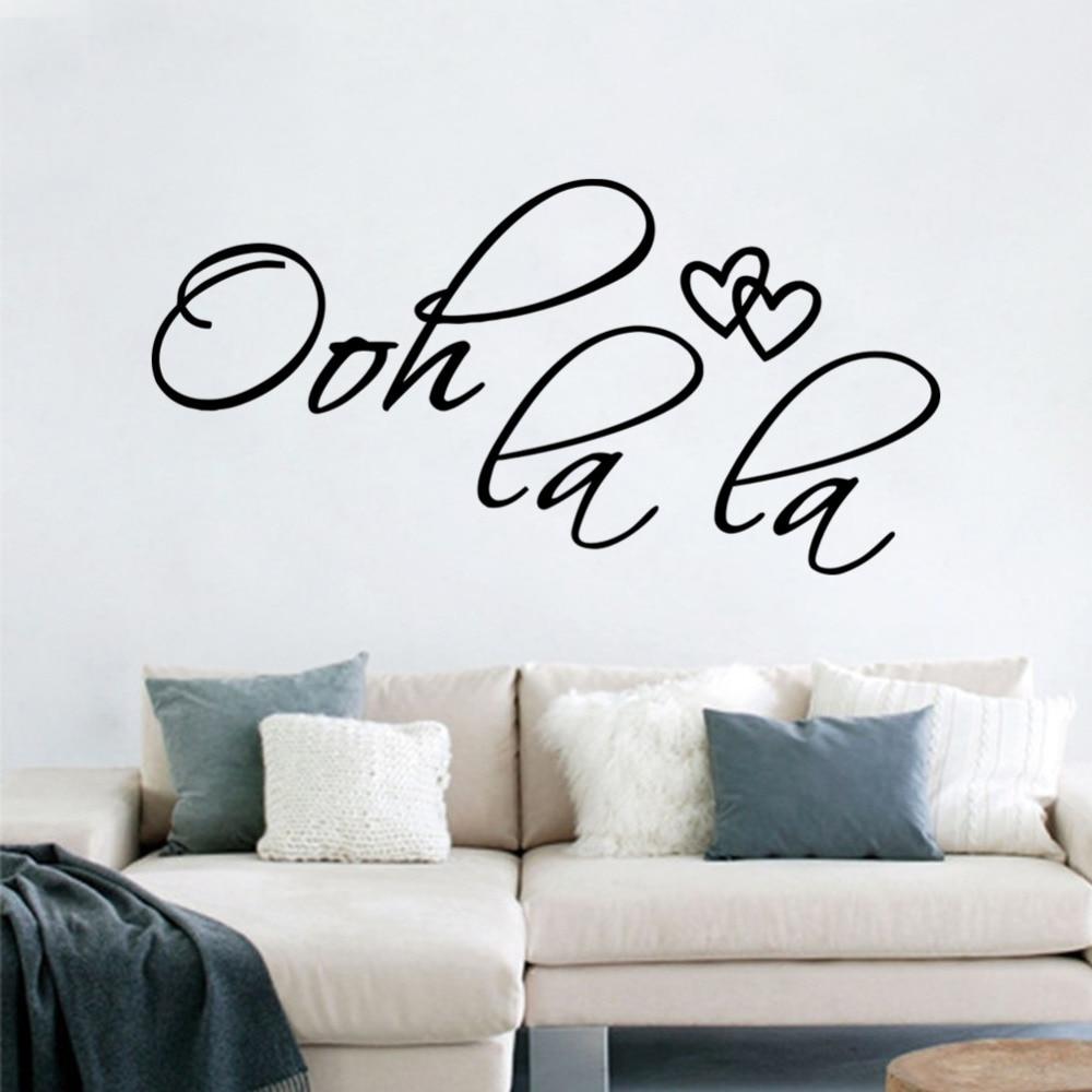 Aliexpress.com : Buy OOH La La Paris France Hearts Love Vinyl Wall Stickers  Quotes Bedroom Decorations Home Decor Decal Art From Reliable Vinyl Wall ... Part 42