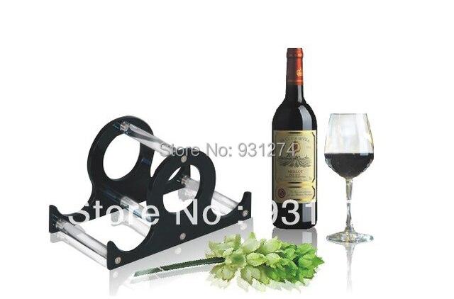 Flaschenhalter Küche | Kd Verpackung Schwarz Acryl Wein Bier Flaschenhalter 3 Flaschen