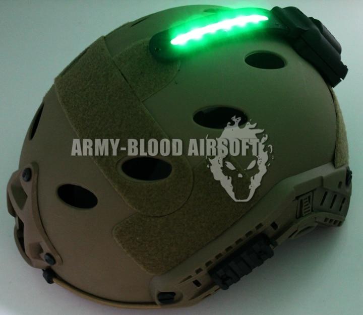 Зеленый ядро выживание Хель-звездочный 5, вмонтированных в шлемы свет идентификацию флеш выживание шлем свет (де)