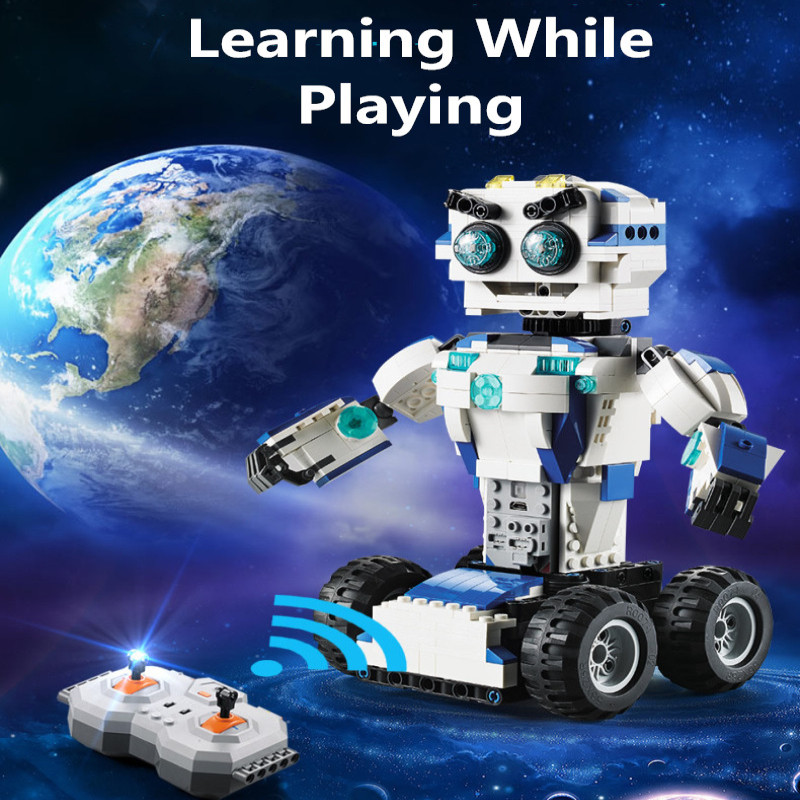 606pcs DIY assembly toy 2in1 Technic Remote Control RC Transformation Deformation Robot humanoid Toys For Kid Building Block toy606pcs DIY assembly toy 2in1 Technic Remote Control RC Transformation Deformation Robot humanoid Toys For Kid Building Block toy