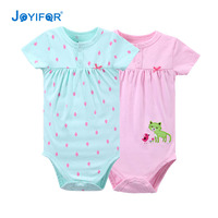 Baby Girl Clothes 2PCS Lot Cute 100 Cotton Short Sleeves Baby Rompers Roupas De Bebe Infantil