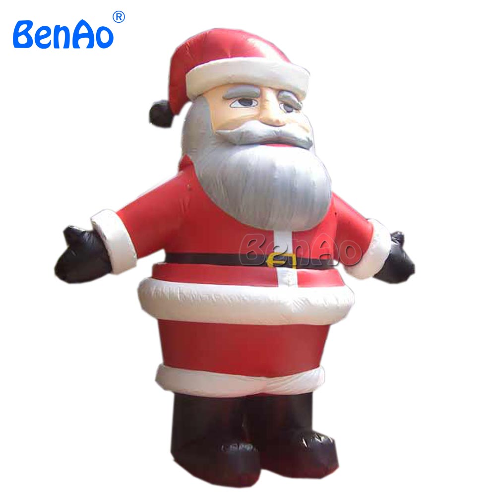 X071 4m H Commercial Airblown Inflatable Santa Claus Christmas Yard Art Decoration + 1 CE/UL Blower + Repair Kids commercial sea inflatable blue water slide with pool and arch for kids