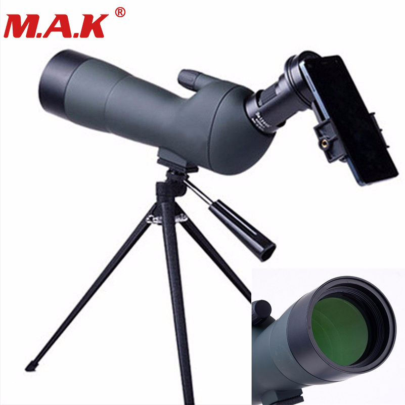 high quality 20-60X60 spotting scope birdwatching binoculars for archery and shooting hunt target with tripod and phone bracket waterproof spotting scope 20 60x60 for birdwatching long range target shooting spotting scope with tripod phone adapter