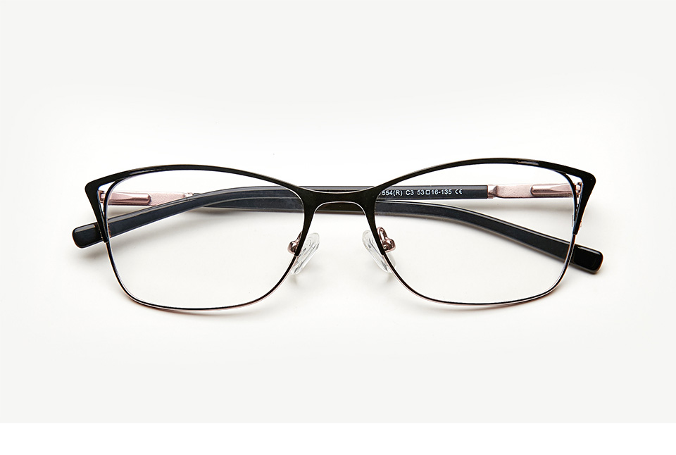 9a1f86cfca272 Metal Eyeglasses Frame Women Cat Eye Glasse Clear Vintage Transparent  Prescription Myopia Woman Glasses Optical Frames TWM7554C3 ...