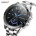 Известный бренд бизнес мужчины часы световой 2016 LONGBO полный стали кварцевые мужские часы водонепроницаемые 30 м мужской часы