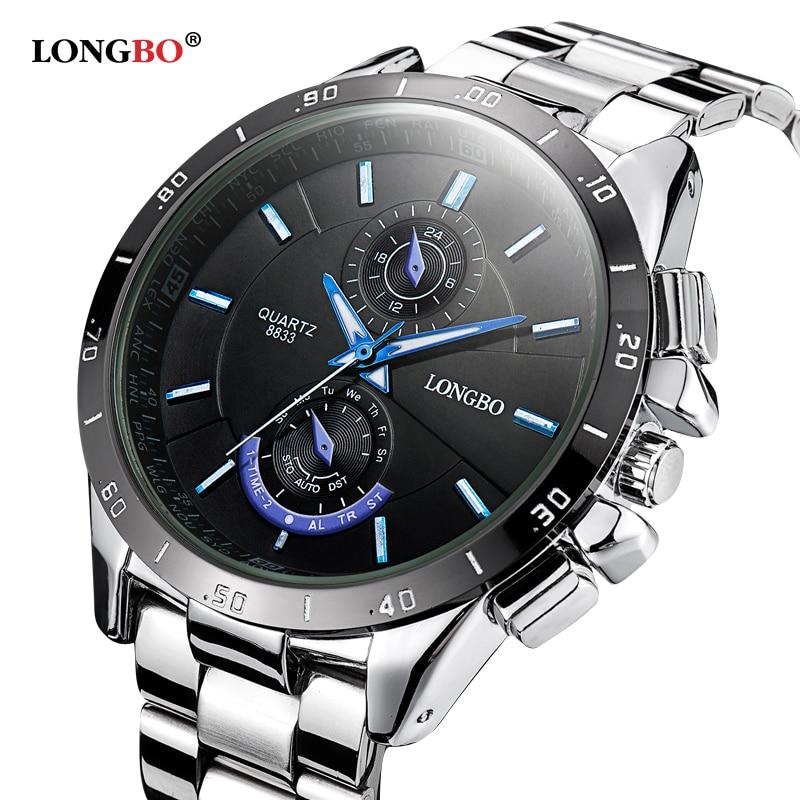 online get cheap famous watch brands men aliexpress com alibaba famous brand business men watches luminous 2016 longbo full steel quartz watch men waterproof 30m male