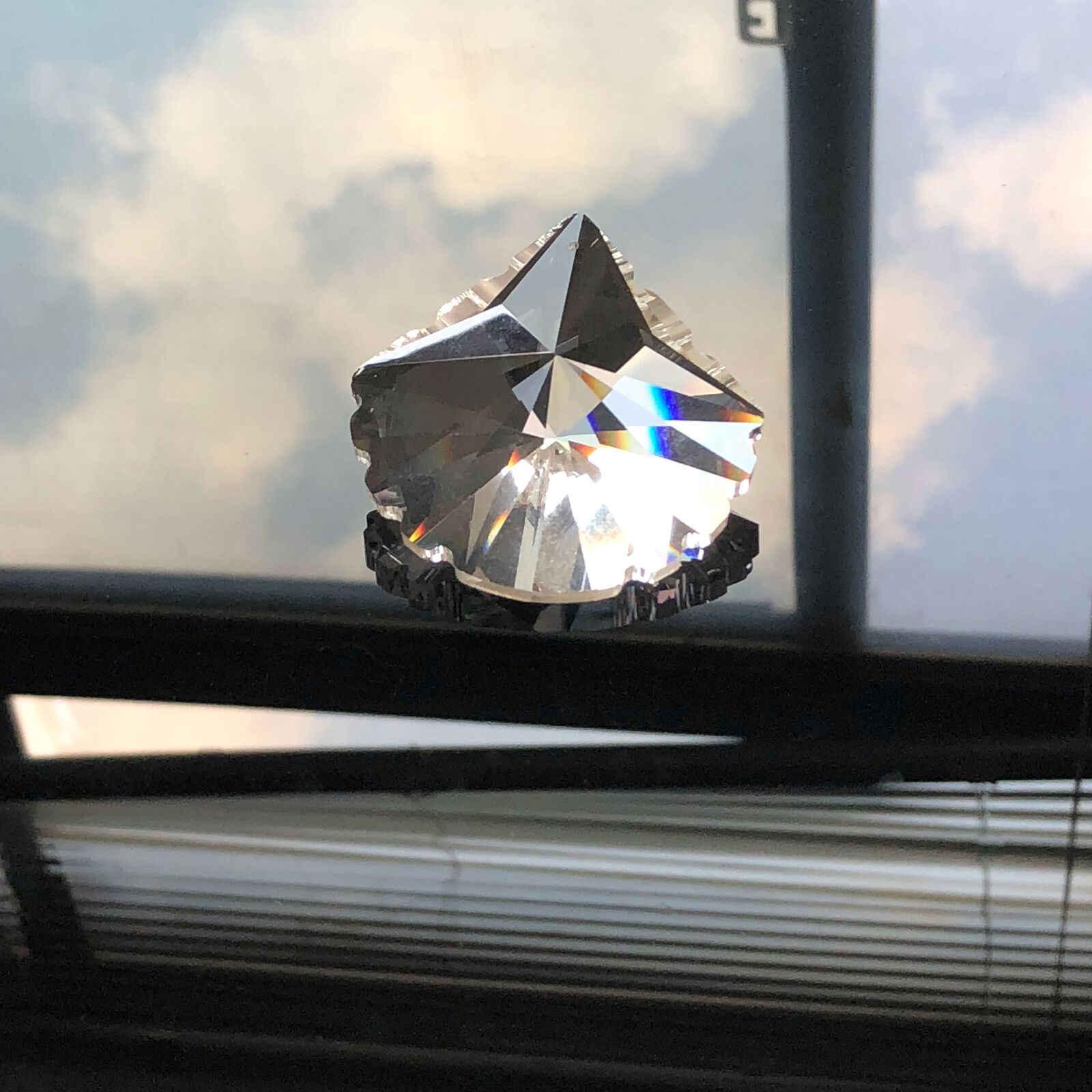 1X צדפות פגז Suncatcher מנסרות פיאות זכוכית אמנות קישוט נברשת קריסטל חלק תליית תליון DIY מסיבת מנורת אספקת