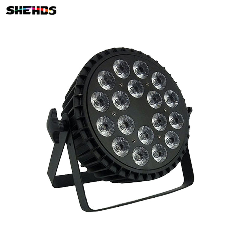 LED Flat Par Can 18x12W  Lighting for Party KTV Disco DJ Lamp Aluminum Alloy LED Free Shipping,SHEHDS Stage Lighting free shipping aluminum alloy led par12x18w rgbwa uv and mixed color light wash light for dj disco ktv and party shehds