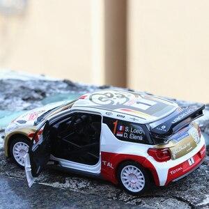 Image 3 - 1:32 ölçekli simülasyon DS3 alaşım araba modeli Diecast araç oyuncak ses ışığı ile Metal otomatik ralli yarış oyuncak araba çocuk hediyeler