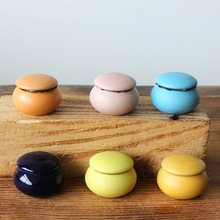 4PCS/LOT Storage jar cans for tea,coffee,face powder,ointment candy box for food makeup tool case 15g capacity color by random