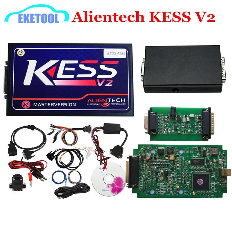 imágenes para 2017 Nueva Alientech KESS V2 OBD2 Gerente ECU Maestro Version Chip Tuning Kits SW 2.32 HW4.036 Works Multi-Cars No Tokens limitada