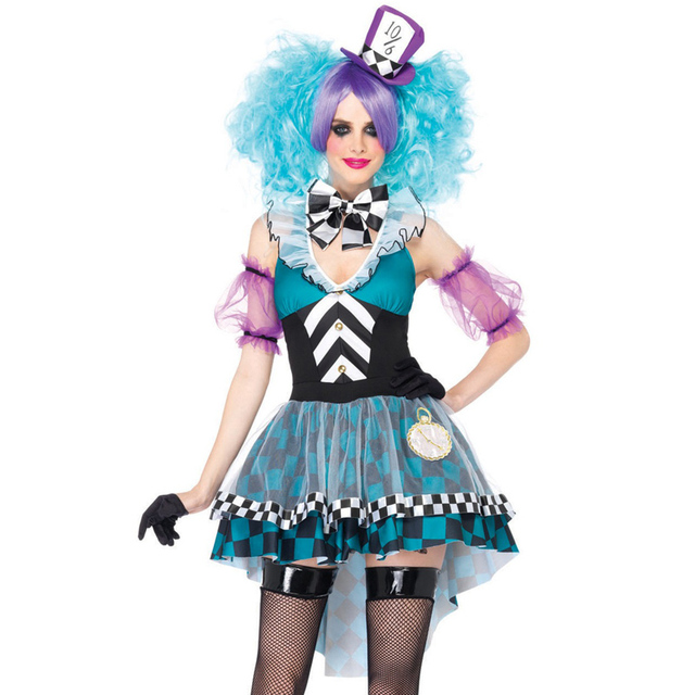 Halloween Alice in Wonderland Ladies Mad Hatter Costume Tea Party Book Day  Adult Outfit Fancy Dress a9a5216f82c7