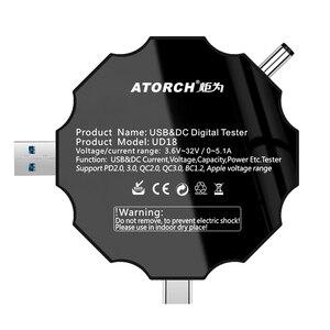Image 5 - DC5.5 USB 3.0 סוג C 18 ב 1 USB tester DC דיגיטלי מד מתח חשמל בנק מטען מתח הנוכחי מד זרם גלאי QC/PD3.0 מטר