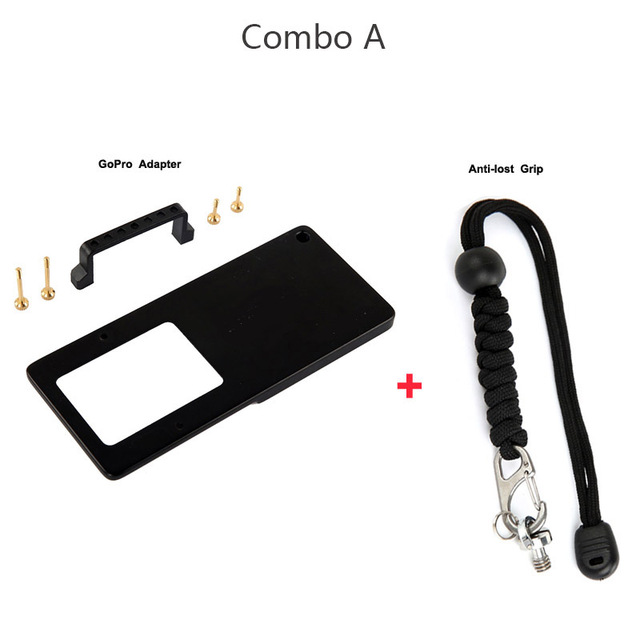 Extended Tube Pole+Remote Cable+ Anti-lost strap+for GoPro Mount Adapter Plate f/Z1-Evolution Z1 Smooth-C Upgraded