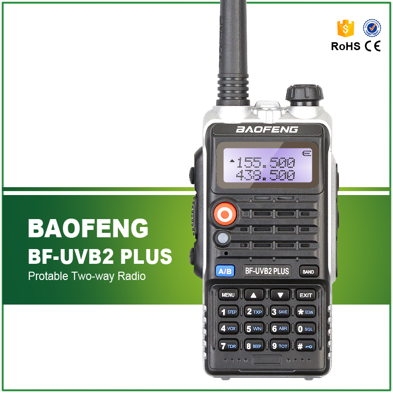5 W 1800 Mah Baofeng BF-UVB2 Plus Talkie Walkie UHF VHF 136-174 MHZ/400-520 MHZ Portable Deux-Way Radio UVB2 Plus